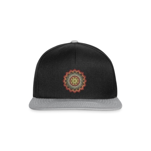 Handpan - Hang Drum Mandala earth colors - Snapback Cap