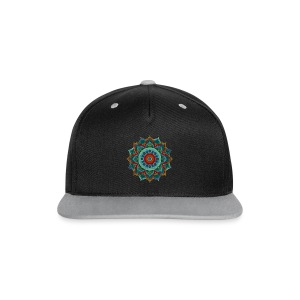 Handpan - Hang Drum Mandala blue red - Kontrast Snapback Cap