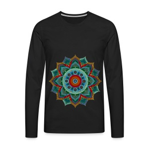 Handpan - Hang Drum Mandala blue red - Männer Premium Langarmshirt