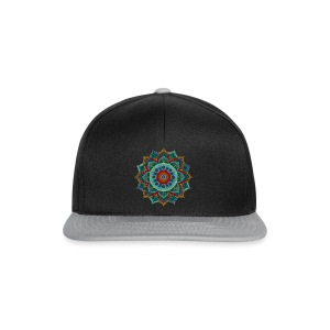 Handpan - Hang Drum Mandala blue red - Snapback Cap