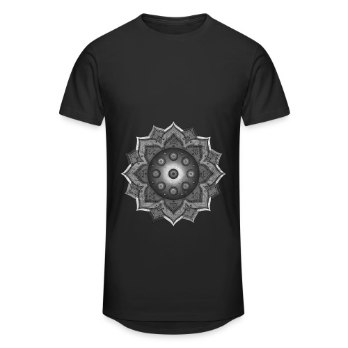Handpan - Hang Drum Mandala grey - Männer Urban Longshirt