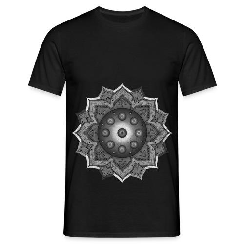Handpan - Hang Drum Mandala grey - Männer T-Shirt