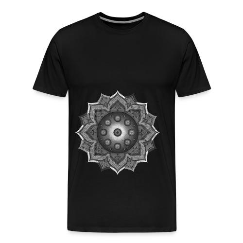 Handpan - Hang Drum Mandala grey - Männer Premium T-Shirt