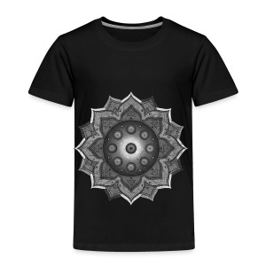Handpan - Hang Drum Mandala grey - Kinder Premium T-Shirt