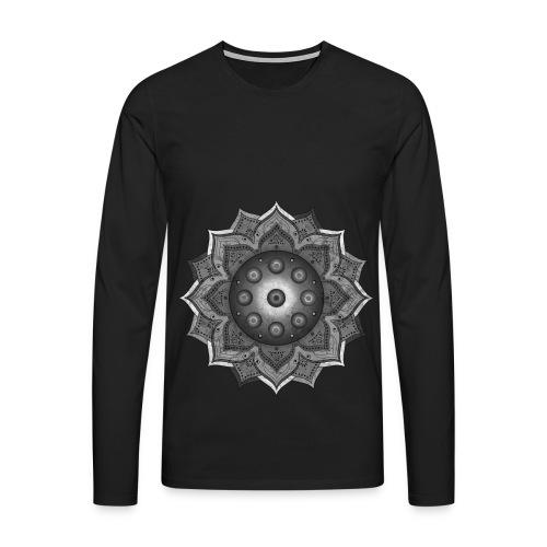 Handpan - Hang Drum Mandala grey - Männer Premium Langarmshirt