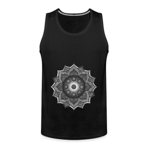 Handpan - Hang Drum Mandala grey - Männer Premium Tank Top