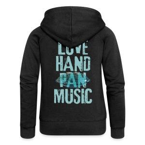 LOVE HANDPAN MUSIC - hang drum - Frauen Premium Kapuzenjacke