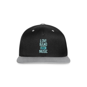 LOVE HANDPAN MUSIC - hang drum - Kontrast Snapback Cap
