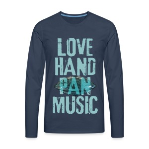 LOVE HANDPAN MUSIC - hang drum - Männer Premium Langarmshirt