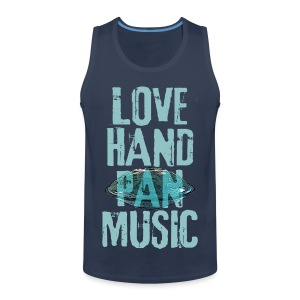 LOVE HANDPAN MUSIC - hang drum - Männer Premium Tank Top