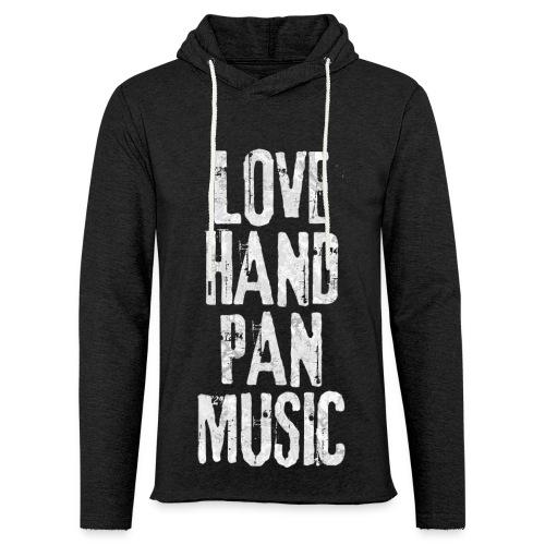 LOVE HANDPAN MUSIC - fractal white - Leichtes Kapuzensweatshirt Unisex