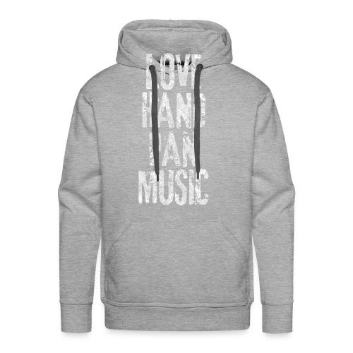 LOVE HANDPAN MUSIC - fractal white - Männer Premium Hoodie