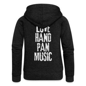 LOVE HANDPAN MUSIC - fractal white - Frauen Premium Kapuzenjacke