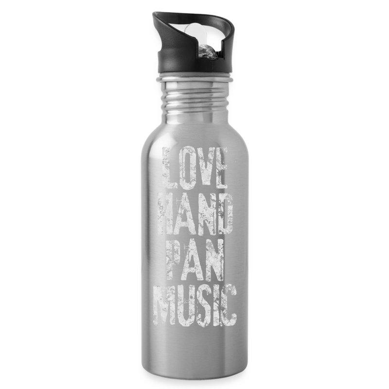 LOVE HANDPAN MUSIC - fractal white - Trinkflasche