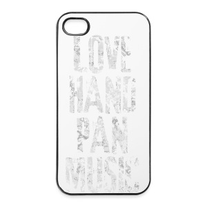 LOVE HANDPAN MUSIC - fractal white - iPhone 4/4s Hard Case