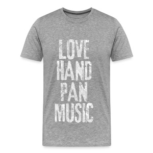 LOVE HANDPAN MUSIC - fractal white - Männer Premium T-Shirt