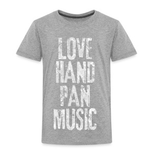 LOVE HANDPAN MUSIC - fractal white - Kinder Premium T-Shirt