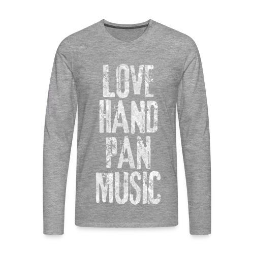 LOVE HANDPAN MUSIC - fractal white - Männer Premium Langarmshirt