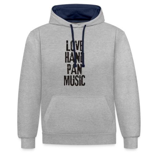 LOVE HANDPAN MUSIC - black - Kontrast-Hoodie