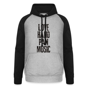 LOVE HANDPAN MUSIC - black - Unisex Baseball Hoodie