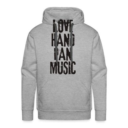 LOVE HANDPAN MUSIC - black - Männer Premium Hoodie