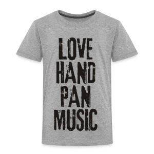LOVE HANDPAN MUSIC - black - Kinder Premium T-Shirt
