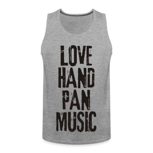 LOVE HANDPAN MUSIC - black - Männer Premium Tank Top