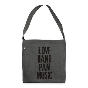 LOVE HANDPAN MUSIC - black - Schultertasche aus Recycling-Material