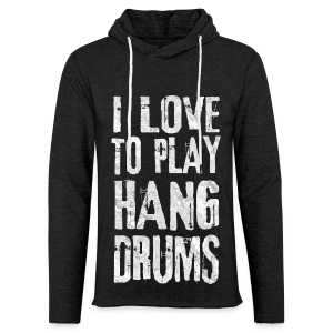 I LOVE TO PLAY HANG DRUMS - fractal white - Leichtes Kapuzensweatshirt Unisex