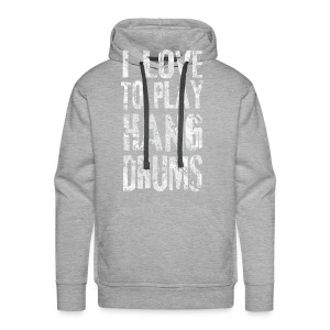 I LOVE TO PLAY HANG DRUMS - fractal white - Männer Premium Hoodie