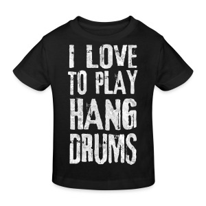 I LOVE TO PLAY HANG DRUMS - fractal white - Kinder Bio-T-Shirt