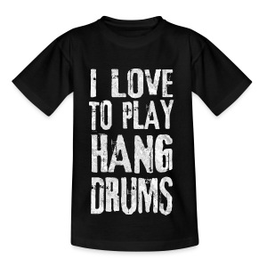 I LOVE TO PLAY HANG DRUMS - fractal white - Kinder T-Shirt