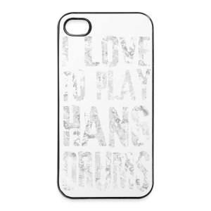 I LOVE TO PLAY HANG DRUMS - fractal white - iPhone 4/4s Hard Case