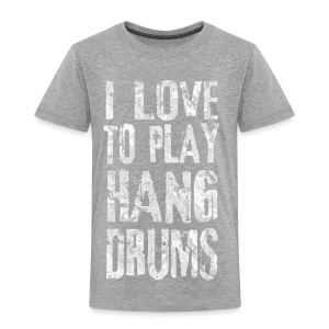 I LOVE TO PLAY HANG DRUMS - fractal white - Kinder Premium T-Shirt