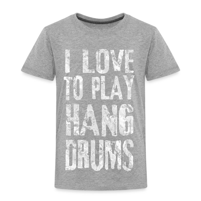 I LOVE TO PLAY HANG DRUMS - fractal white - Kinder Premium T-Shirt