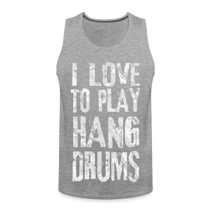 I LOVE TO PLAY HANG DRUMS - fractal white - Männer Premium Tank Top