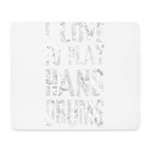 I LOVE TO PLAY HANG DRUMS - fractal white - Mousepad (Querformat)