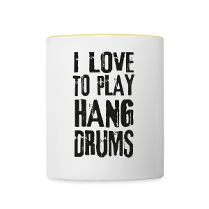 I LOVE TO PLAY HANG DRUMS - black - Tasse zweifarbig