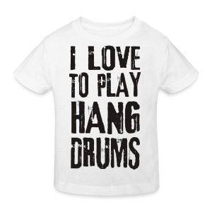 I LOVE TO PLAY HANG DRUMS - black - Kinder Bio-T-Shirt
