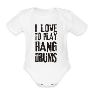 I LOVE TO PLAY HANG DRUMS - black - Baby Bio-Kurzarm-Body