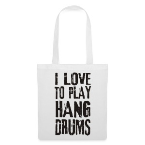 I LOVE TO PLAY HANG DRUMS - black - Stoffbeutel