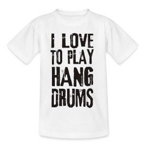 I LOVE TO PLAY HANG DRUMS - black - Kinder T-Shirt