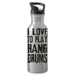 I LOVE TO PLAY HANG DRUMS - black - Trinkflasche