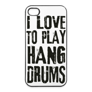 I LOVE TO PLAY HANG DRUMS - black - iPhone 4/4s Hard Case