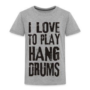 I LOVE TO PLAY HANG DRUMS - black - Kinder Premium T-Shirt