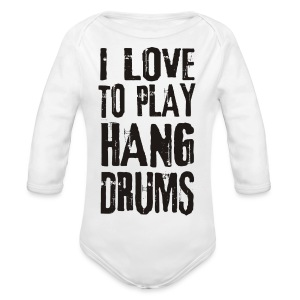 I LOVE TO PLAY HANG DRUMS - black - Baby Bio-Langarm-Body