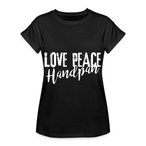 LOVE PEACE Handpan white - Frauen Oversize T-Shirt