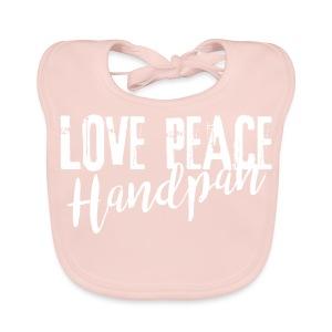LOVE PEACE Handpan white - Baby Bio-Lätzchen