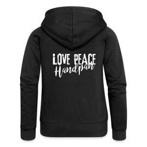 LOVE PEACE Handpan white - Frauen Premium Kapuzenjacke