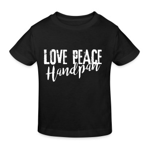 LOVE PEACE Handpan white - Kinder Bio-T-Shirt